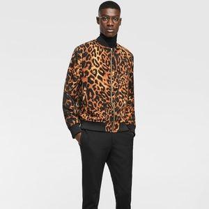 ZARA MAN Leopard Print Bomber Jacket